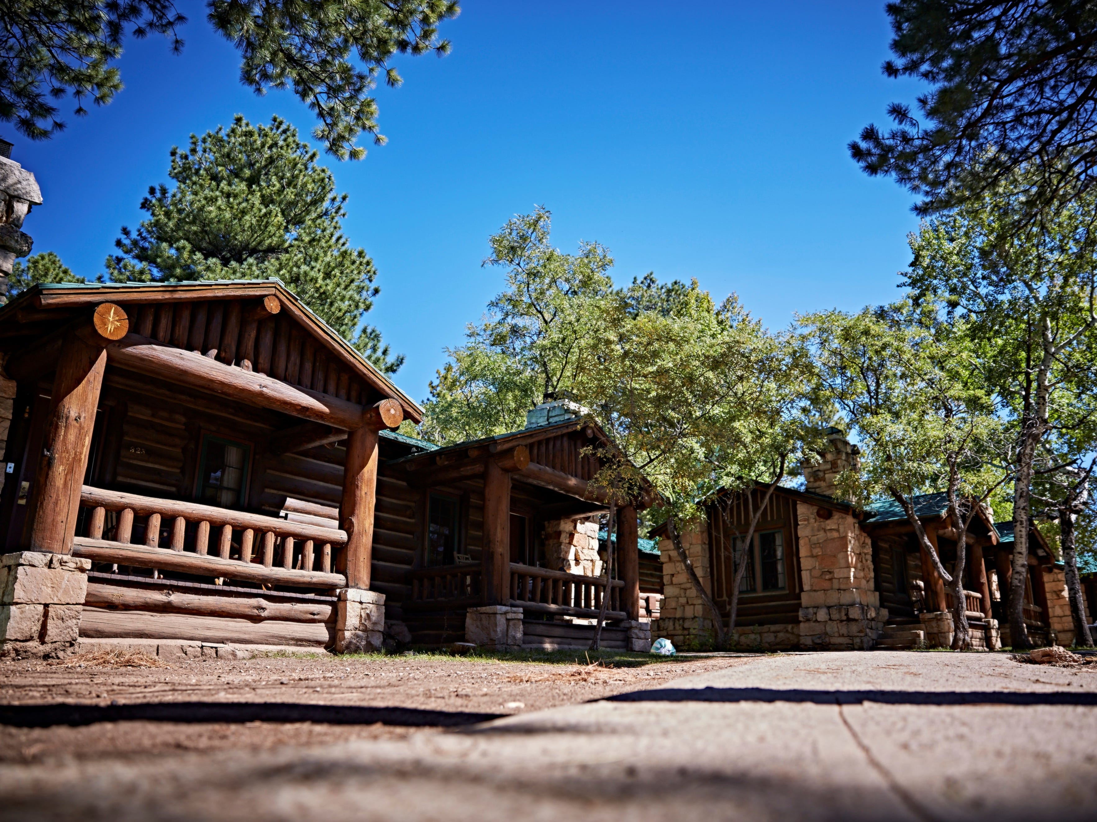 Visitors to the North Rim may camp or stay in one of the many cabins.