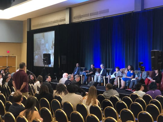 The University of Arizona hosted a forum centered around free speech after more than a month of controversy over a Border Patrol protest that resulted in three students being charged.