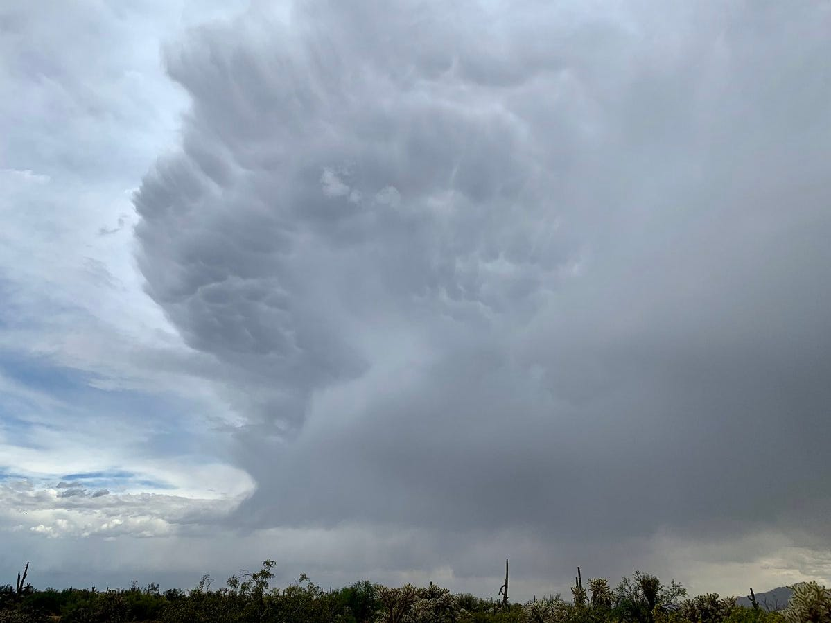National Weather Service Skywarn Spotter Lori Grace Bailey captured these storm clouds south of Florence on Tuesday, April 23, 2019.