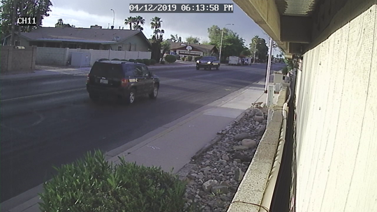 Police are on the hunt for the black Jeep Patriot with roof rack that hit a bicyclist