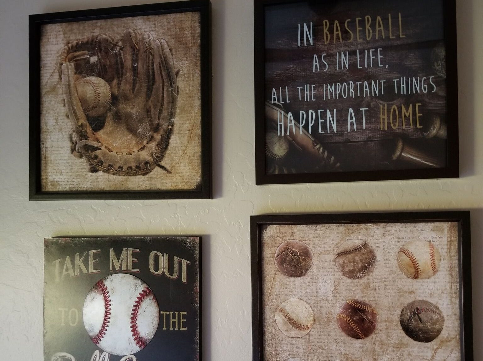 A baseball theme is found throughout the home.