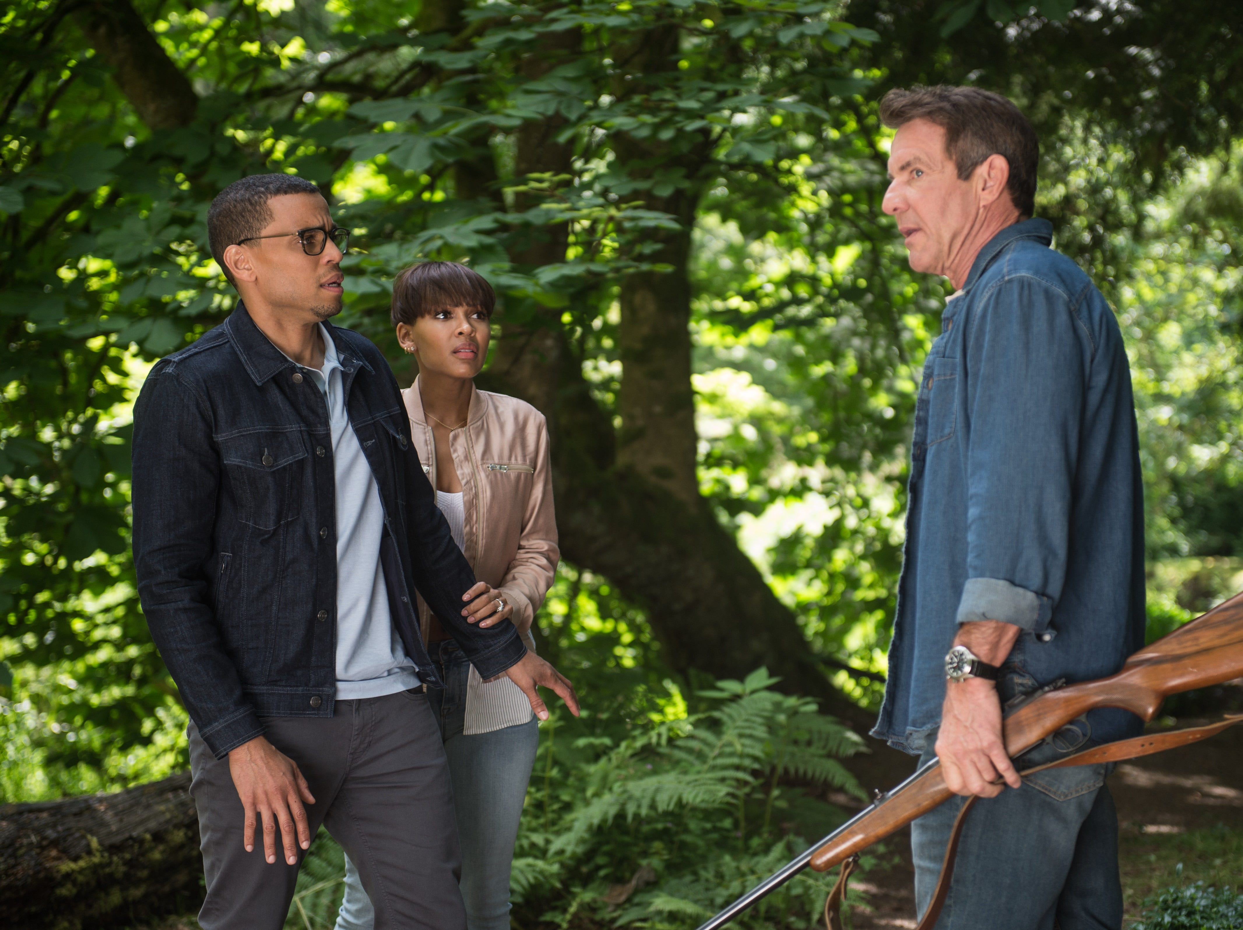 "Meagan Good, Dennis Quaid and Michael Ealy star in ""The Intruder."""