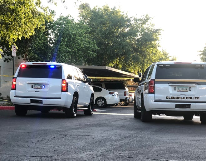 Glendale police were at an apartment complex, where a child died after being pulled from a car Monday.