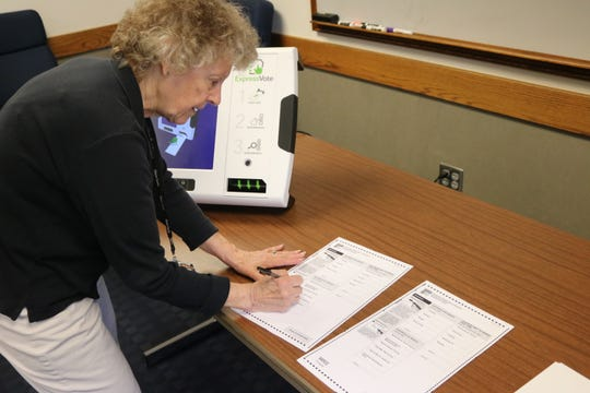 Carol Ann Hill, director of the Ottawa County Board of Elections, said the new voting machines have hybrid options, being able to accept traditional paper ballots filled out by hand.