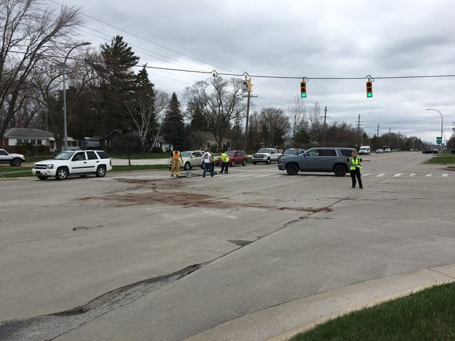 Rescue crews responded to a crash at Gratiot and Huron boulevards in Marysville Tuesday afternoon.