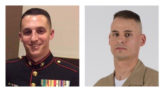Sgt. Benjamin Hines and Staff Sgt. Christopher Slutman.