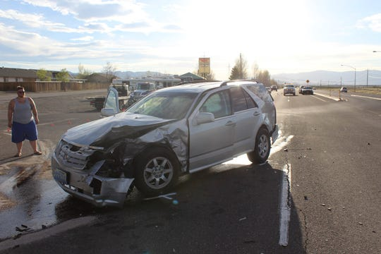 A Fallon man was killed after his vehicle was struck by this Cadillac while driving in Fernley.