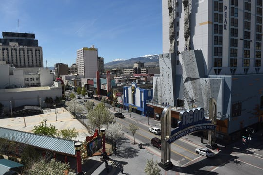 Downtown Reno on April 23, 2019.