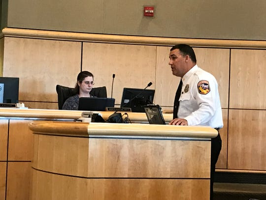 Shasta Fire Chief Bret Gouvea briefs Shasta County Commissioners about fire prevention work that's underway or planned for the county.