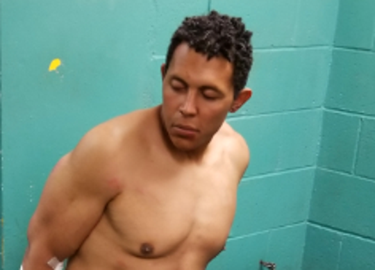 Redding police arrested David Wuco on suspicion of punching three Redding police officers at Shasta College on Tuesday, April 23, 2019.