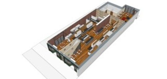 A draft rendering of Fork 40 Food Hall