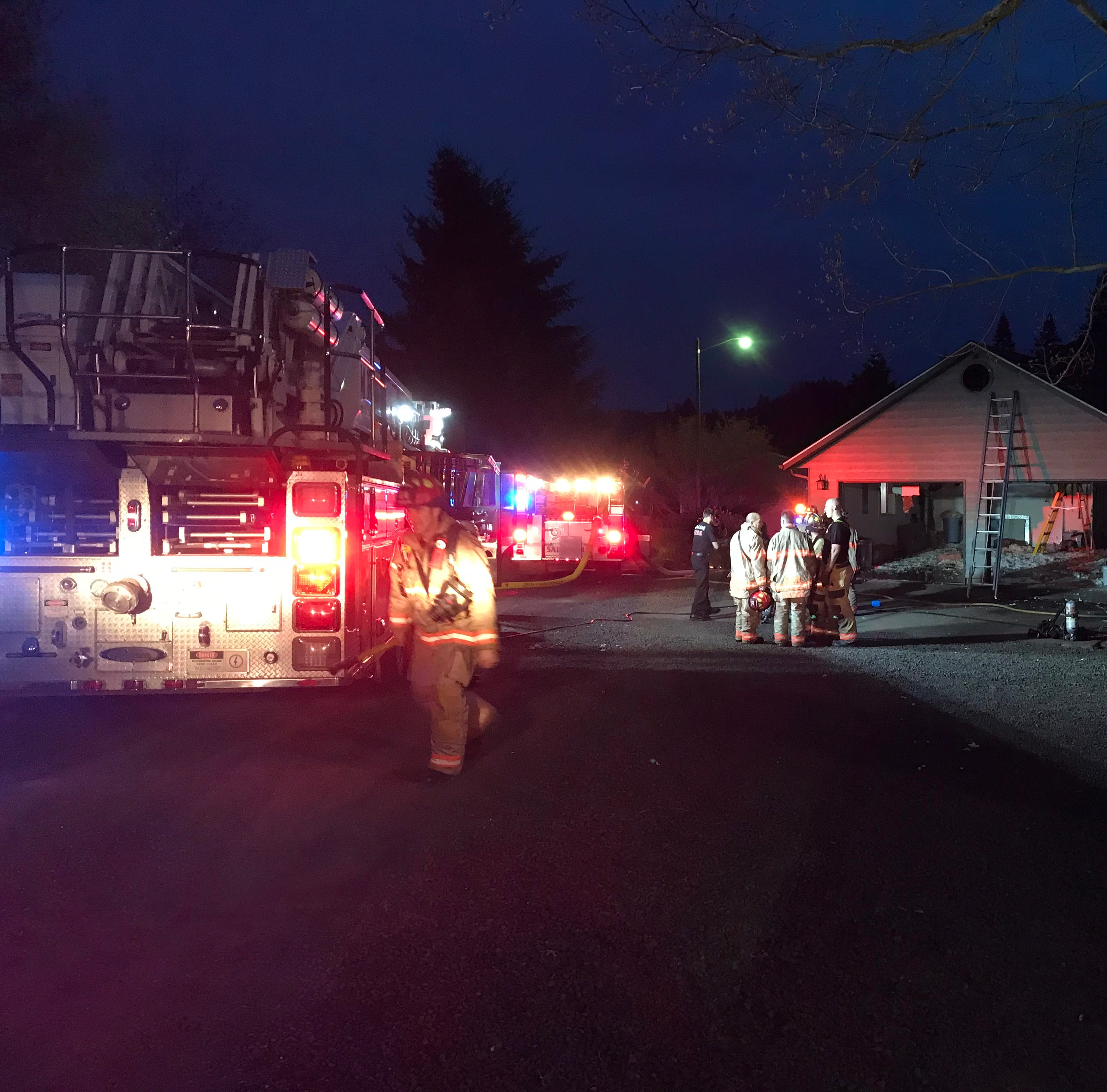 House fire closes Jory Hill Road in South Salem, no injuries