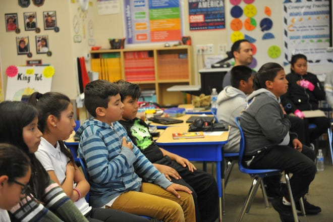 Fourth grade students at Monte Bella Elementary School practiced mindfulness on April 23, 2019.