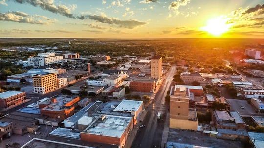 Tim L Vasquez captured sunrise Friday April 19, 2019, over downtown San Angelo.