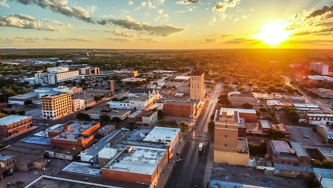 Tim L Vasquez captured sunrise Friday April 19, 2019, over downtown San Angelo.