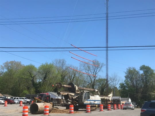 This tower repair project site in Accomac, Virginia was the scene of an industrial accident  on Monday, April 22, 2019 in which one person was injured.