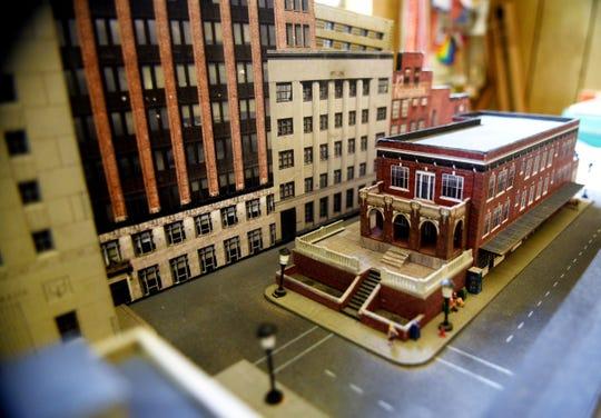 Russell Higginbotham creates models of Shreveport buildings.