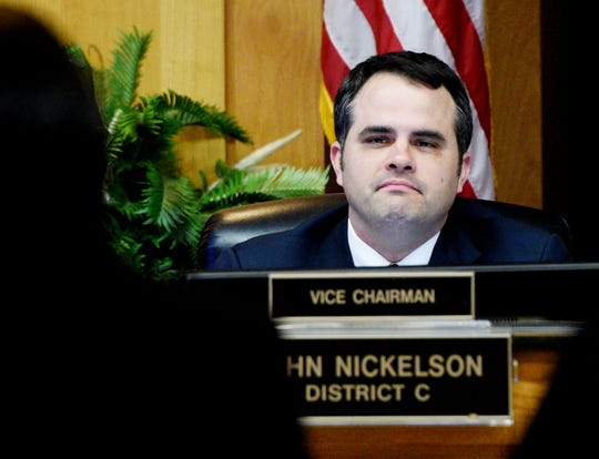 Councilman John Nickelson introduced an ordinance that would require city council approval for large purchases by the mayor's administration.