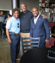 DeMarkus Webb, Don Gibbs and Caddo Parish Asst. Atty. Joshua Williams at opening of  Louisiana Daiquiri Cafe.
