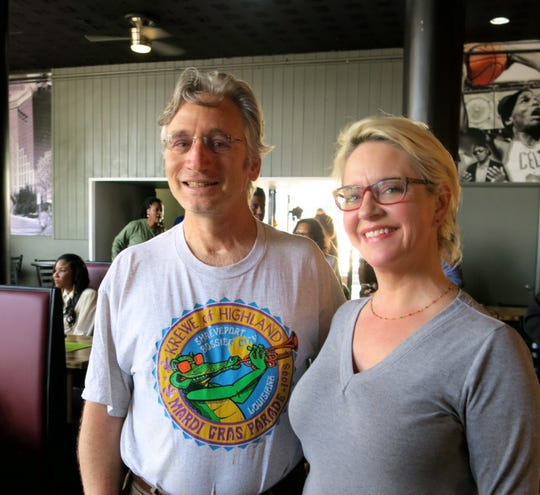 Caddo Commissioner Matthew Linn and wife Lisa at Louisiana Daiquiri Cafe splashy opening.