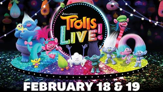 Trolls LIVE! will perform at CenturyLink Center Feb. 18-19.