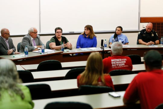 Moms Demand Action hosted a forum about guns and safety in schools at Missouri State University on Monday, April 22, 2019.