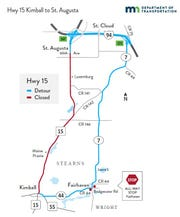 A portion of Minnesota Highway 15 will close May 6. Detours will be posted.