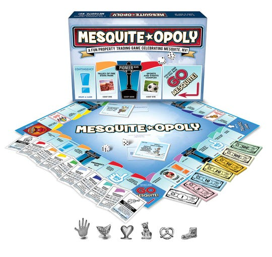 Mesquite-opoly is a new board game developed exclusively for the city of Mesquite, Nevada based on Monopoly.