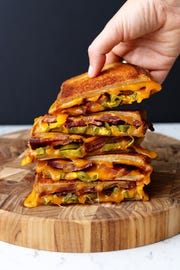 Candied Bacon Pickled Jalapeno Grilled Cheese from MacKenzie Smith, who will demonstrate cheese goodness on Thursday.