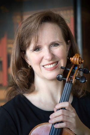 Violinist Corinne Stillwell will perform two Beethoven String Quartets at the  Inaugural Music for Food Concert on Sunday.
