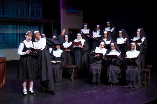 "Deloris (Alexis Johnson) brings her disco diva talents to bear on the struggling convent choir in ""Sister Act."""