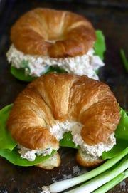 Deviled ham makes a delicious sandwich on croissants.