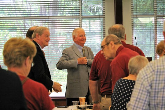 FSU coach Mike Martin speaks at the final Mike Martin Luncheon.