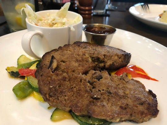 Taplow Pub's meatloaf was enhanced by a zesty and sweet demi-glaze.