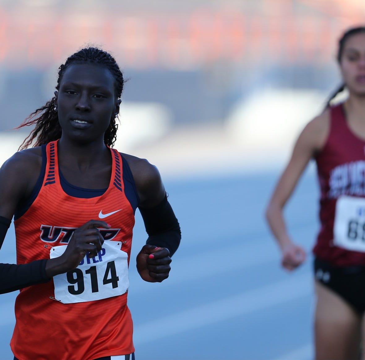 UTEP women's track team's triple crown bid comes up just short