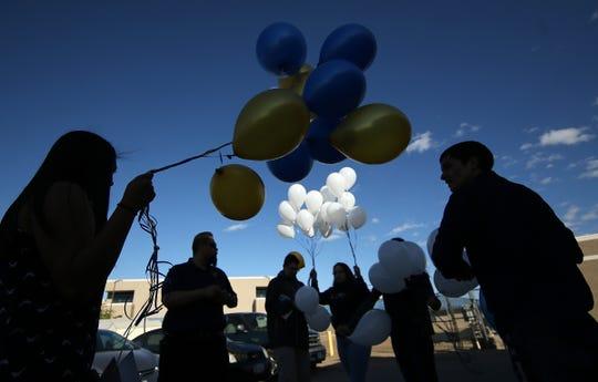 "Fabens High School memorializes Auto Tech teacher Heriberto ""Eddie"" Santillana who died in a car wreck Friday and student Alexis Sanchez Cardenas who was murdered in Juarez."