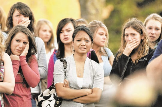 Just days after the death of Breanna Schneller, her friends and classmates came together to mourn at a memorial gathering.