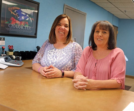 From left, AnnaMaria Badenchini the new deputy of taxes and Donna Rose the new receiver of Taxes for Haverstraw were photographed in their office on April 23, 2019.