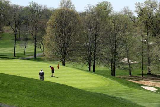 Golfers play at Rockland Country Club in Sparkill April 23, 2019.