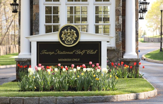 Entrance to Trump National Golf Club Westchester in Briarcliff Manor April 23, 2019.