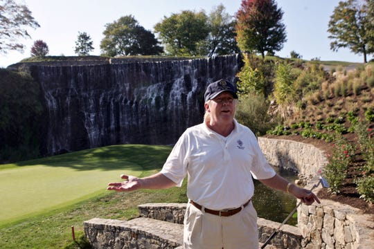 Donald J. Trump at Trump National Golf Club in Briarcliff Manor in 2010.