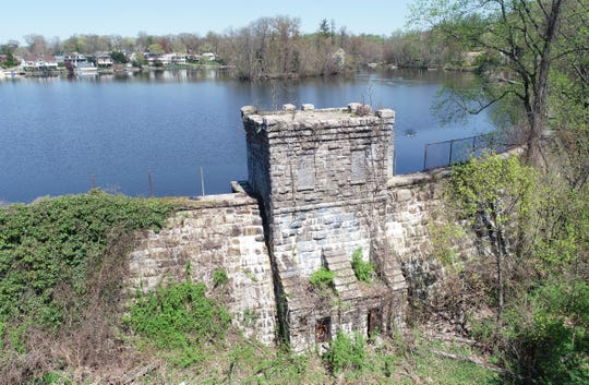 Drone images of Reservior Number One in Eastchester on Tuesday, April 23, 2019.