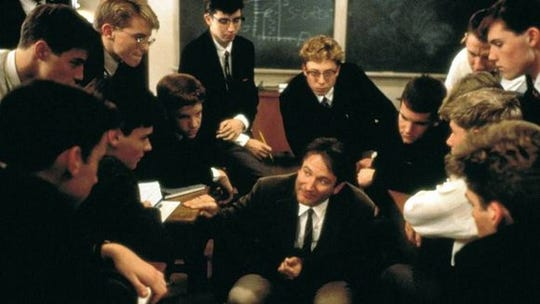 "A scene from 1989's ""Dead Poets Society"" -- the first major feature shot entirely in Delaware."