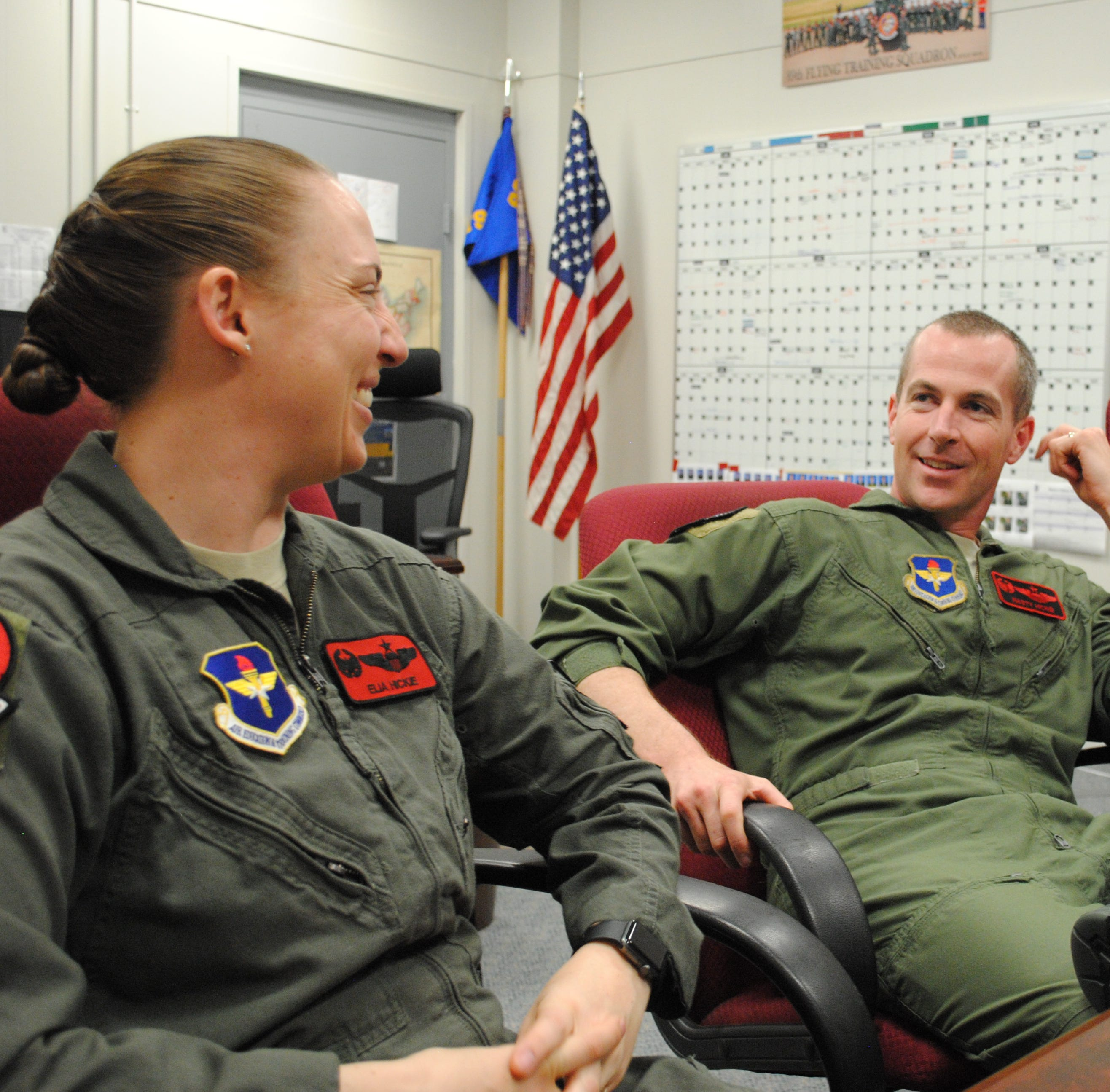 To love and serve: Married couple squadron commanders first for Sheppard's 80th FTW