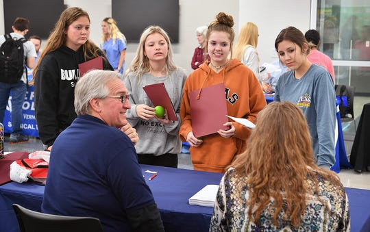 The WFISD Career Education Center hosted 30 employers and colleges for its first Colleges and Career Fair Tuesday. The school will have about 350 graduating seniors this year.
