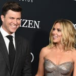 Snl Scarlett Johansson Shares A Sweet Moment With Fiance Colin Jost