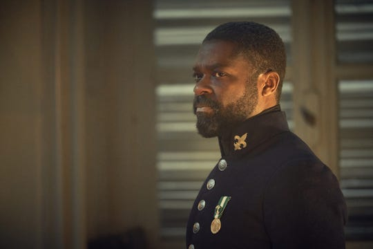 "Javert (David Oyelowo) in ""Les Miserables"" on PBS."