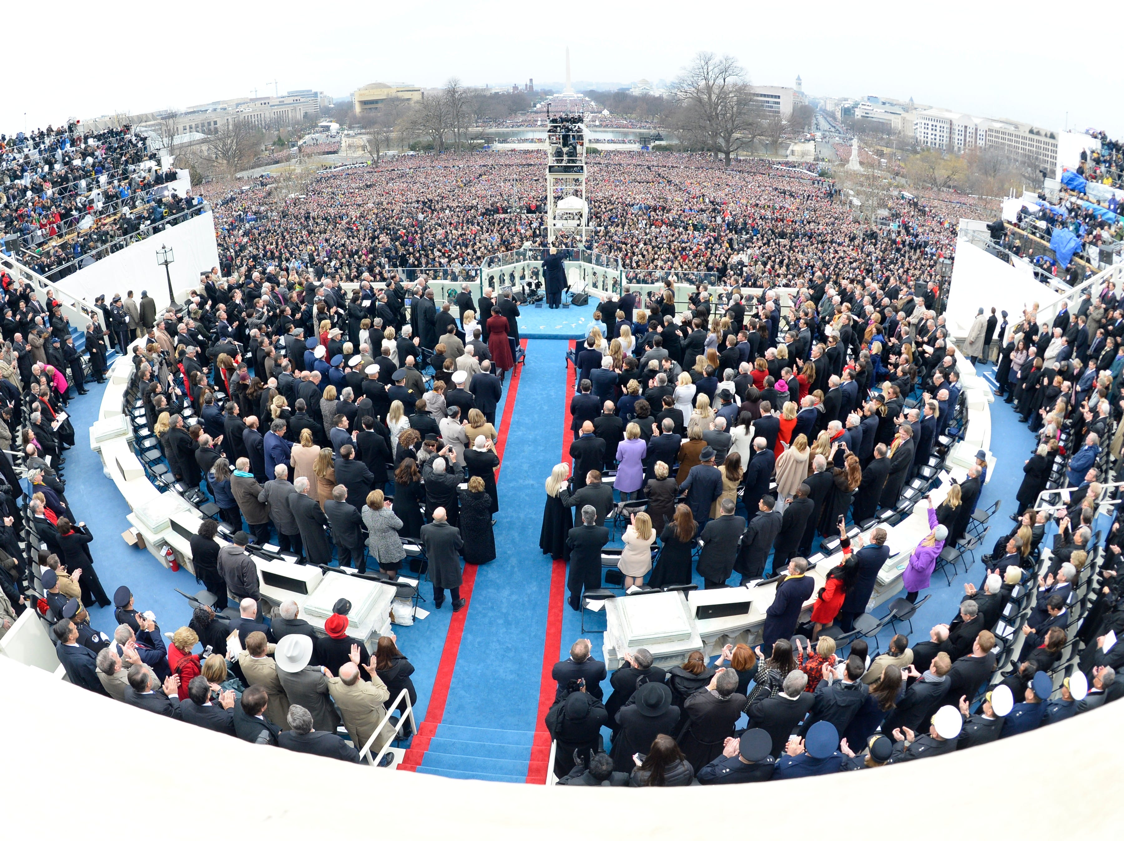 President Donald Trump speaks during the 2017 Presidential Inauguration at the U.S. Capitol on Jan 20, 2017.
