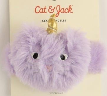 Target's Cat & Jack slap bracelets.