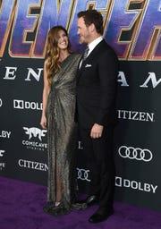 Katherine Schwarzenegger and Chris Pratt lovingly lock eyes.